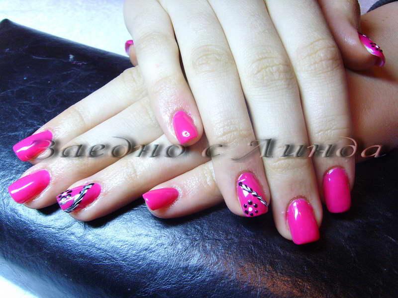Розови мидички люспи и розов брокат