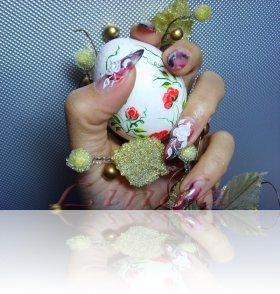 """Ноктопластика с акрил - """"великденски"""" нокти"""