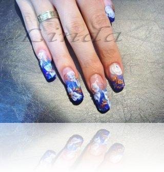 """Изложба """"Professional look"""" - демонстрация на дизайн върху дълги и къси нокти."""