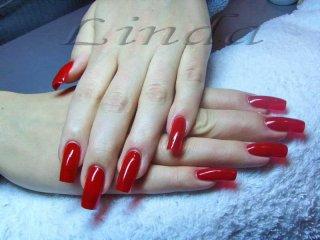 Ноктопластика - класически червени нокти