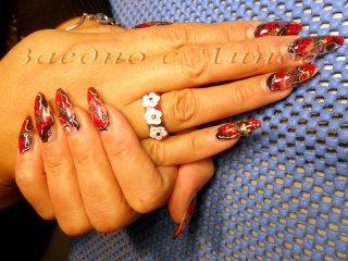 """""""Ноктопластика с акрил"""", ученичка Пламена от Габрово - чудесна ноктопластика, допълнена с ефектен пръстен"""